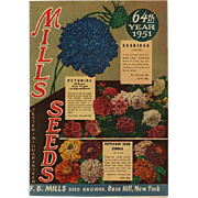 1951 Mills Seed Catalog Order Sheet & Envelope