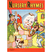 1942 Nursery Rhymes Children's Book