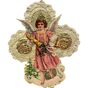 Child Angel Die-Cut Handmade Christmas Decoration #1