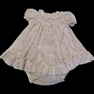 Cute Vintage Baby Girl's Sheer Dress & Panties