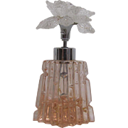Atomizer Glass Perfume Pink Bottle Floral Top