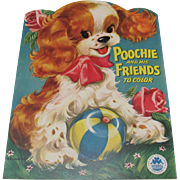 1954 Poochie & His Friends Coloring Book Unused