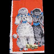 Poodles Parisian Prints Kitchen Towel