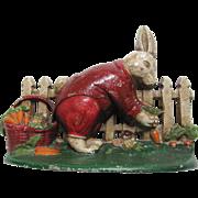 Early Peter Rabbit Cast Iron Doorstop