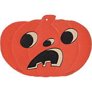 Small Embossed Halloween Sad Face JOL Die-Cut Luhrs #2