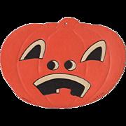 Small Embossed Halloween Sad Face JOL Die-Cut Luhrs