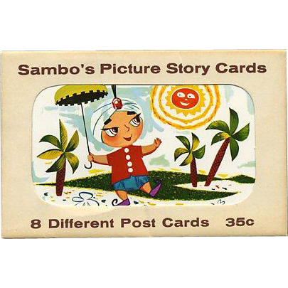 Set 8 Sambo's Restaurant Picture Story Postcards Original Folder