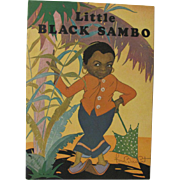 1931 Little Black Sambo Book Fern Bisel Peat