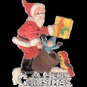 Embossed Santa Die-Cut Bird Toy Present