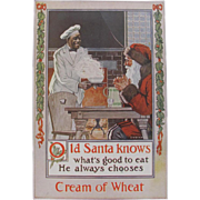 1920 Cream Of Wheat Ad with Santa