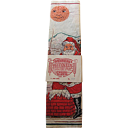 Vintage Santa In Chimney Reindeer Bainbridge Crepe Paper