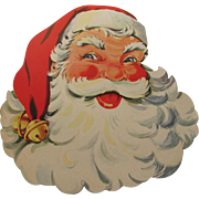 Santa Face Cutout Christmas Decoration