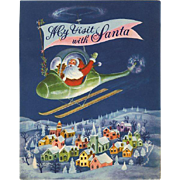 1950's Santa in Helicopter Photo Holder