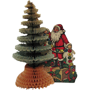 Santa Claus Tree Honeycomb Centerpiece by Beistle