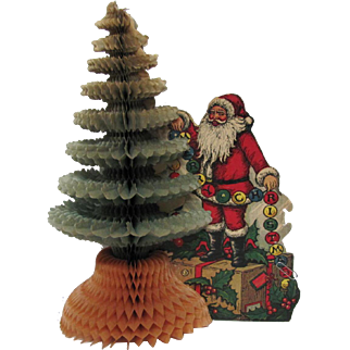 Santa Claus Tree Honeycomb Centerpiece by Beistle