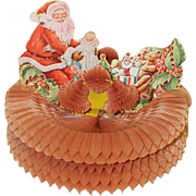 1946 Santa Doll Teddy Bear Toys Honeycomb Centerpiece by Beistle