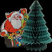 Santa Honeycomb Tree Christmas Decoration