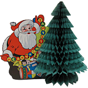 Santa Honeycomb Tree Christmas Decoration