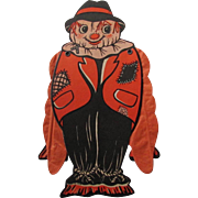 Halloween Scarecrow Crepe Paper Folding Arms