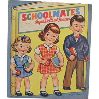 1947 Schoolmates Paper Dolls and Dresses