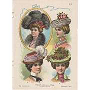 Fashion Hats Page Sept 1901 Delineator