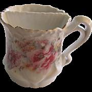 Shaving Cup Porcelain Pastel Floral