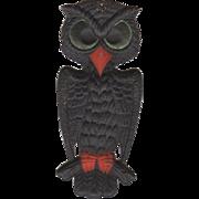 Small Deeply Embossed Halloween Owl Die-Cut Germany