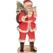 Embossed Standing Santa Die-Cut German