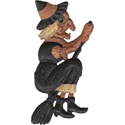 Small Deeply Embossed Halloween Witch Die-Cut Germany