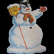 Glitter Snowman Die Cut Decoration