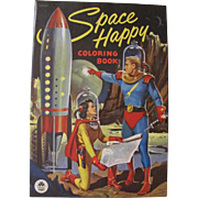 1953 Space Happy Coloring Book Unused