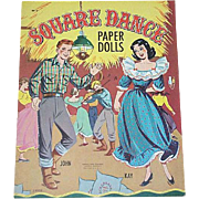 Vintage Square Dance Paper Dolls By J. Voelz