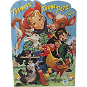 1955 Tommy's Farm Pets Coloring Book Unused