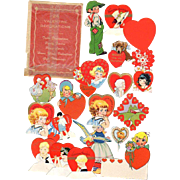 Valentine Decorations Package 24 Small Die-Cut
