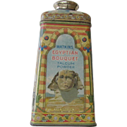 Early Watkins Egyptian Bouquet Talcum Powder Tin