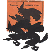 2 Dennison Halloween Witch Cut-Outs & Envelope