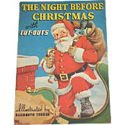 1938 Night Before Christmas Book with Cut-Outs