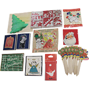 Assortment of 11 Packages Christmas Seals & Tags