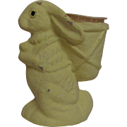 Vintage Yellow Easter Bunny Candy Holder