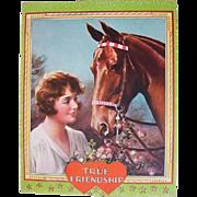 Art Deco 1920s - 1930s Flapper Lovely Lady Girl with Horse Print All the World Loves a Winner Irene Patten
