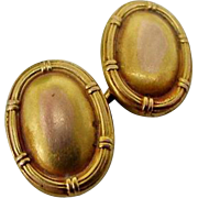 BG135 Antique Victorian to Edwardian Single 14K Cuff link Double Sided Chased Design 2.8 grams