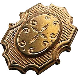 Antique Victorian Gold 14k Gilt Plated Bracelet Pocket Watch Fob Chain Slide Charm