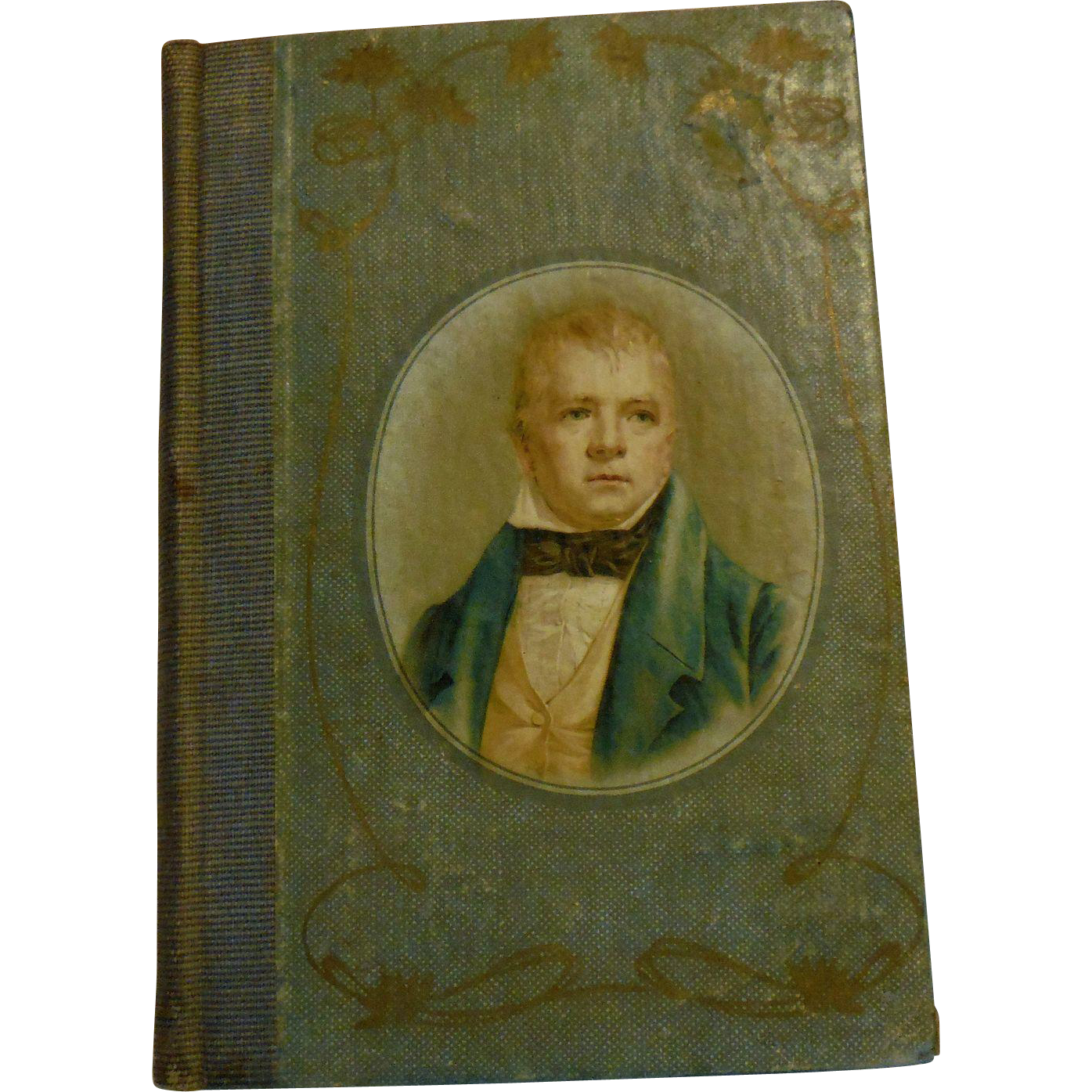 Decorative Antique Victorian Marmion Sir Walter Scott Poetry Poem Book Lithograph Cover