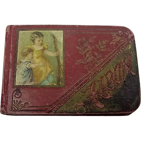 Victorian Antique Autograph Child's Album Miniature 3.75inch 1887 to 1889 Poems Scrap Signatures Could be used for Doll