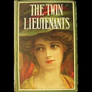 Twin Lieutenants or Soldiers Bride Alexander Dumas Action Napoleonic Era  Novel Lady Lithograph Cover  Antique Book