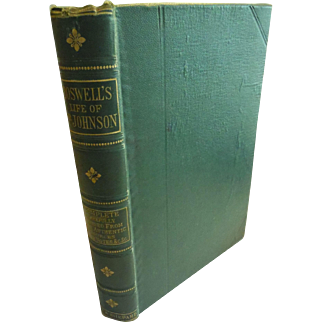 1870s The Life of Dr. Samuel Johnson by James Boswell 18th Century England Book Antique Biography Letters Tour of Hebrides
