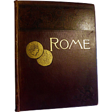 1888 Rome by Francis Wey 345 Engravings on Wood Antique Victorian Book Illustrated First Edition Oversized Huge
