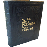 1879 The Republican Court American Society in the Days of George Washington Antique Leather Book 25 Engravings Full Page