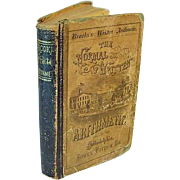 Antique 1869 The Normal Written Arithmetic Analysis Synthesis Math Book Leather Mathematics School Textbook Primitive Early Victorian