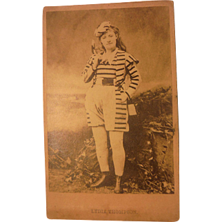Antique CDV Victorian Actress Lydia Thompson English Dancer Comedian Producer Theatre Stage Actor Burlesque Photograph Carte De Visite